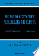 East Aisa And Western Pacific Meteorology And Climate   Proceedings Of The 2nd International Conference