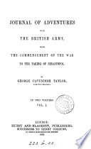 Journal of Adventures with the British Army  from the Commencement of the War to the Taking of Sebastopol