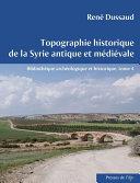 Pdf Topographie historique de la Syrie antique et médiévale Telecharger