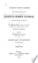 Gesenius's Hebrew Grammar