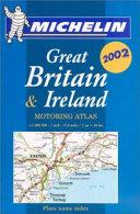 Michelin 2002 Great Britain & Ireland Mini Motoring Atlas
