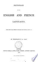 Dictionary of the French and English (English and French) languages