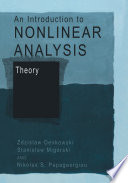 An Introduction to Nonlinear Analysis: Theory