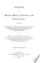 A Handbook of materia medica, pharmacy and therapeutics