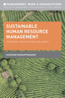 Cover of Sustainable Human Resource Management