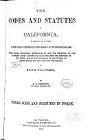 The Codes and Statutes of California