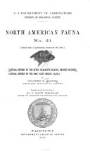 Natural History of the Queen Charlotte Islands, British Columbia. Natural History of the Cook Inlet Region, Alaska