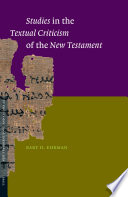 Studies In The Textual Criticism Of The New Testament Book