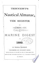 Tennent's Nautical Almanac, Tide Register for the Pacific Coast and Marine Digest