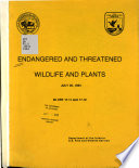 Endangered and Threatened Wildlife and Plants