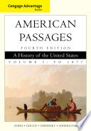 Cengage Advantage Books A History In The United States Volume I To 1877