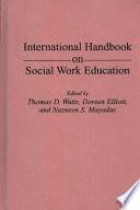 International Handbook On Social Work Education