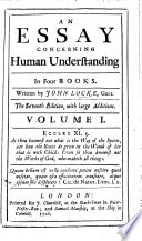 An Essay concerning Humane Understanding     The sixth edition  with large additions