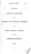 Annual Report of the Board of Public Works to the General Assembly of Virginia  with the Accompanying Documents Book