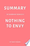 Summary of Barbara Demick   s Nothing to Envy by Swift Reads Book