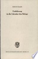 Einfuhrung in die Literatur des Refuge