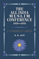 The All India Muslim Conference  1928 1935
