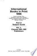 International Books in Print  , Parte 2,Volumes 1-2