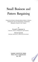 Small Business and Pattern Bargaining Book PDF