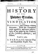 Pdf The history of the powder-treason, with a vindication of the proceedings ... relating thereunto