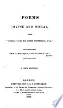 Poems Divine and Moral