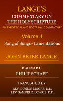 Lange's Commentary on the Holy Scriptures, Volume 5