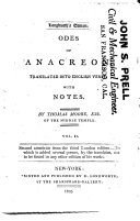 Odes of Anacreon,