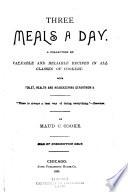 Three Meals a Day Book PDF