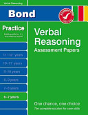 Bond Verbal Reasoning Assessment Papers 6-7 Years
