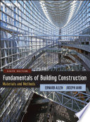 Fundamentals Of Building Construction Book PDF