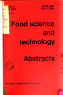 Food Science And Technology Abstracts Book PDF