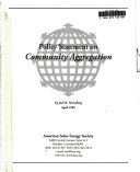 Policy Statement on Community Aggregation