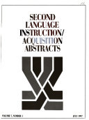 Second Language Instruction/acquisition Abstracts