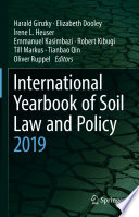 International Yearbook of Soil Law and Policy 2019 Book
