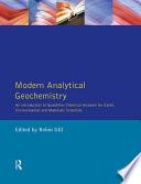 Modern Analytical Geochemistry