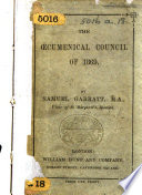 The Cumenical Council Of 1869