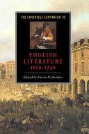 The Cambridge Companion to English Literature, 1650–1740