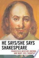 He Says/she Says Shakespeare