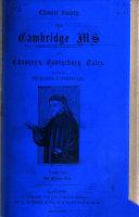 Pdf The Cambridge Ms. (Cambridge Univ. Library, Gg. 4. 27) of Chaucer's Canterbury Tales