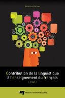 Pdf Contribution de la linguistique à l'enseignement du français Telecharger