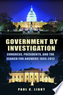 Government by Investigation