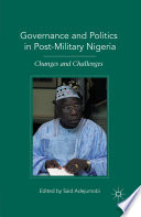 Governance And Politics In Post Military Nigeria