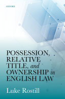 Possession, Relative Title, and Ownership in English Law Pdf