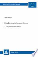 Metadiscourse in Academic Speech