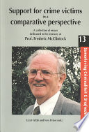 Support For Crime Victims In A Comparative Perspective Book