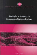 The Right to Property in Commonwealth Constitutions