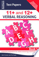 Anthem Test Papers in 11  and 12  Verbal Reasoning