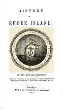 History of Rhode Island Book