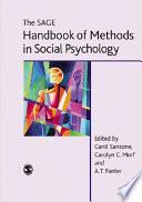 The Sage Handbook of Methods in Social Psychology Book