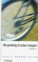 The Greening Of Urban Transport Book PDF